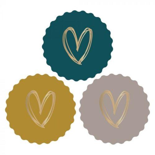 Sluitzegel - Multi hart; Oker, Geel en Terra (12 stuks)