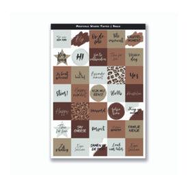 Mini Quote Cards - Warme Tinten Bruin