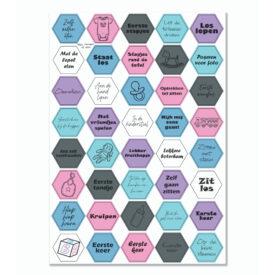 Stickervel 'Hexagon Baby' - YP