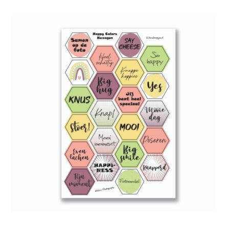 Stickervel 'Hexagon Happy Colors' YP