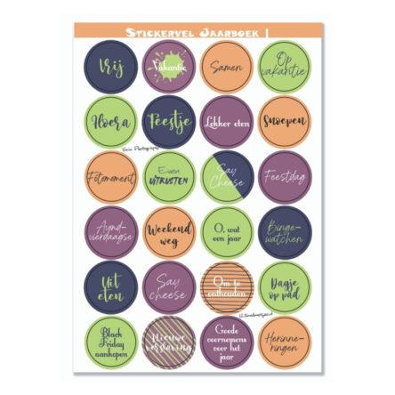 Stickervel 'Jaarboek |' A5 – YP