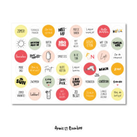 stickervel zomer 48 stickers