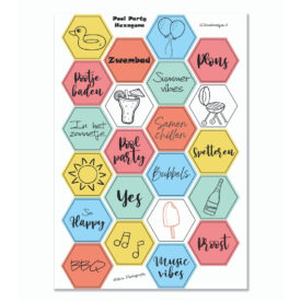 Stickervel 'Hexagon Pool Party' YP