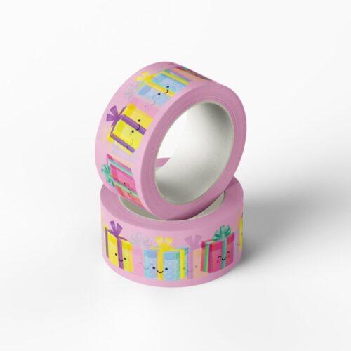 washi tape roze kadootje