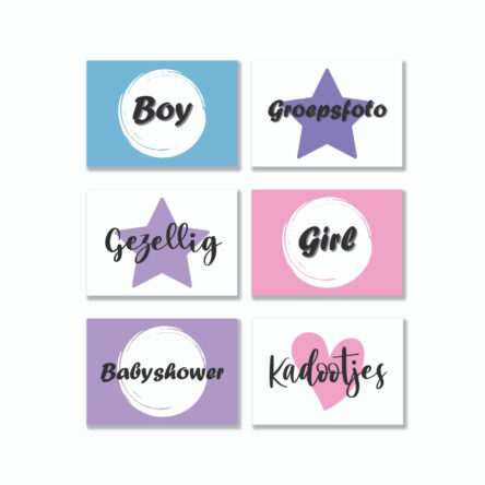 Quote Cards – Babyshower 6 stuks