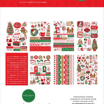 Christmas Cheer Sticker Book – 16 vellen