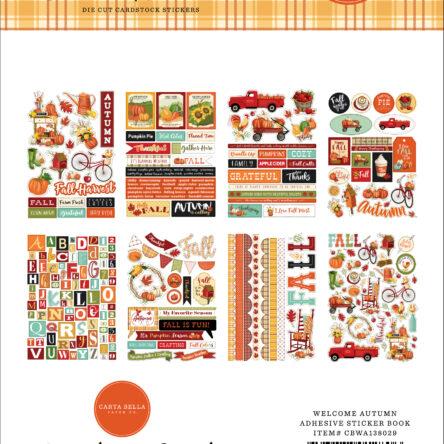 Welcome Autumn Sticker Book – 16 vellen