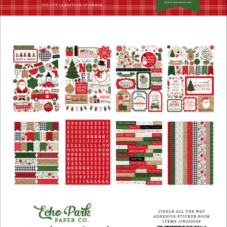 Jingle All The Way Sticker Book – 16 vellen