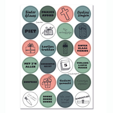 Stickervel 'Sinterklaas' YP A5