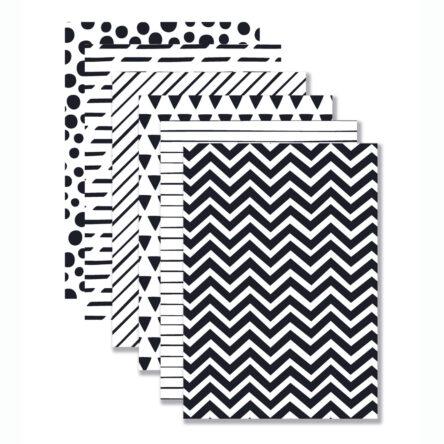 Achtergronden 'Black & White' 12 stuks