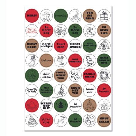Stickervel 'Kerst' YP